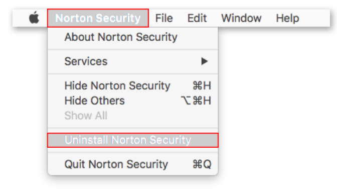 pick uninstall norton